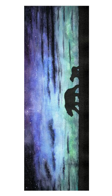 Aurora borealis and polar bears (black version) Yoga Mat by @savousepate on Rageon! #yogamat #auroraborealis #northernlights #polarbears #bears