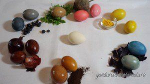 Oua vopsite natural/How to paint eggs with natural colors  (video)