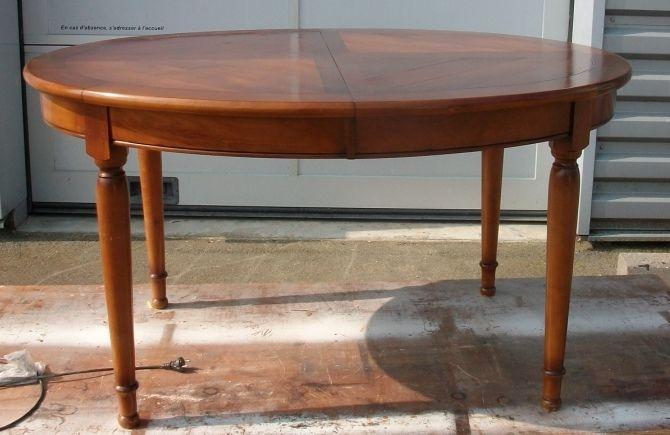 Table Style Louis Philippe Art Eben Relooking Meuble Salle A Manger Merisier Table Ronde Bois