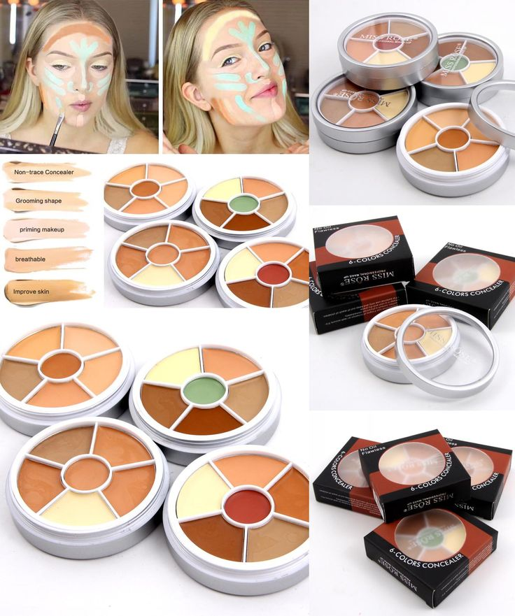 [Visit to Buy] Professional 6 Color Camouflage Concealer For Dark Skin Full Cover Color Corrector Face contour cream kit concealer palette #Advertisement