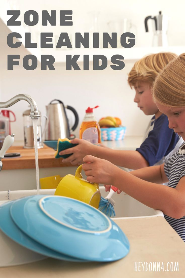 Zone Cleaning for Kids. How to teach your children the habit of doing chores more independently.