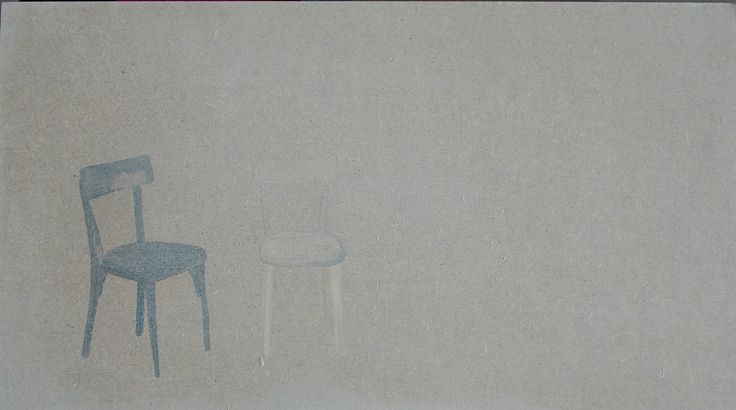tre spettri smalto su tavola,30x50cm circa, 2016 Lisa Cutrino