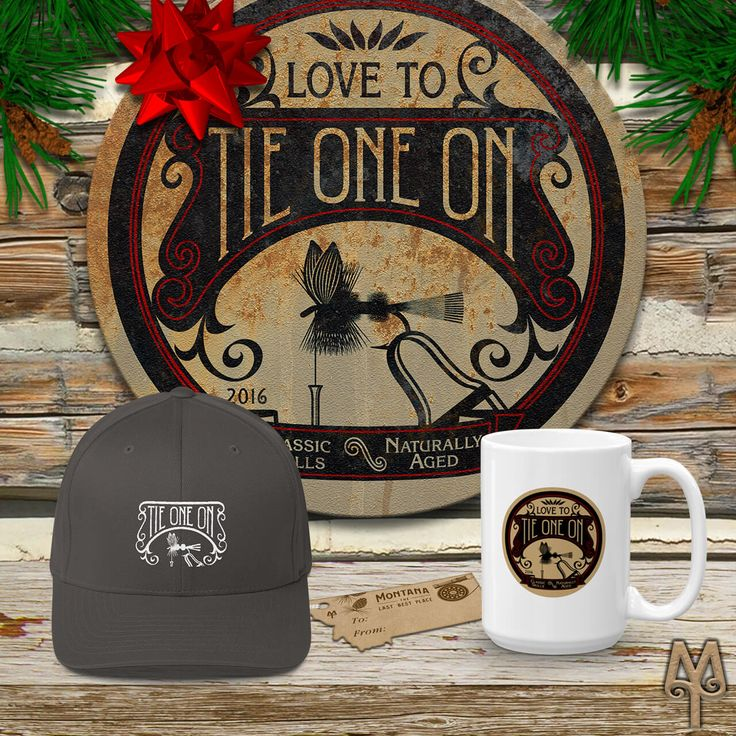 Fly tying memorabilia from Montana Treasures make great gifts for that fly fishing fanatic in your life. Shop for a Vintage 'Tie One On' fly tying wall sign, baseball cap, and coffee mug today!