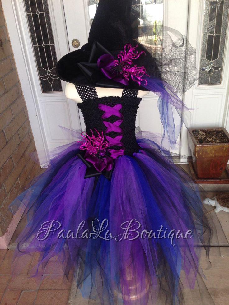 Purple Witch Tutu Dress, Halloween Costume Luxury Dress by PaulaLuBoutique on Etsy https://www.etsy.com/listing/237934183/purple-witch-tutu-dress-halloween