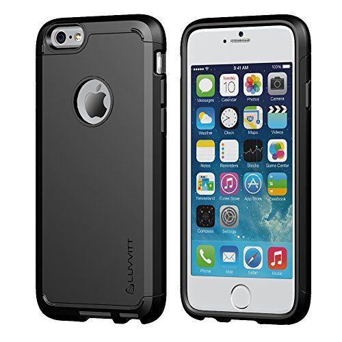 Black Friday Deal iPhone 6 Case, LUVVITT® ULTRA ARMOR iPhone 6 Case / Best iPhone 6 Case for 4.7 inch Screen Air | Double Layer Shock Absorbing Black iPhone 6 Case Cover (Does NOT fit iPhone 5 5S 5C 4 4s or iPhone 6 Plus 5.5 inch screen) - Black from Luvvitt Cyber Monday