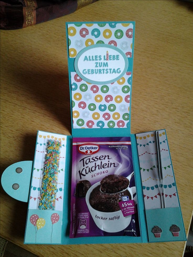 Verpackung für einen Tassenkuchen. Stampin Up – Party Wishes / Party-Grüße
