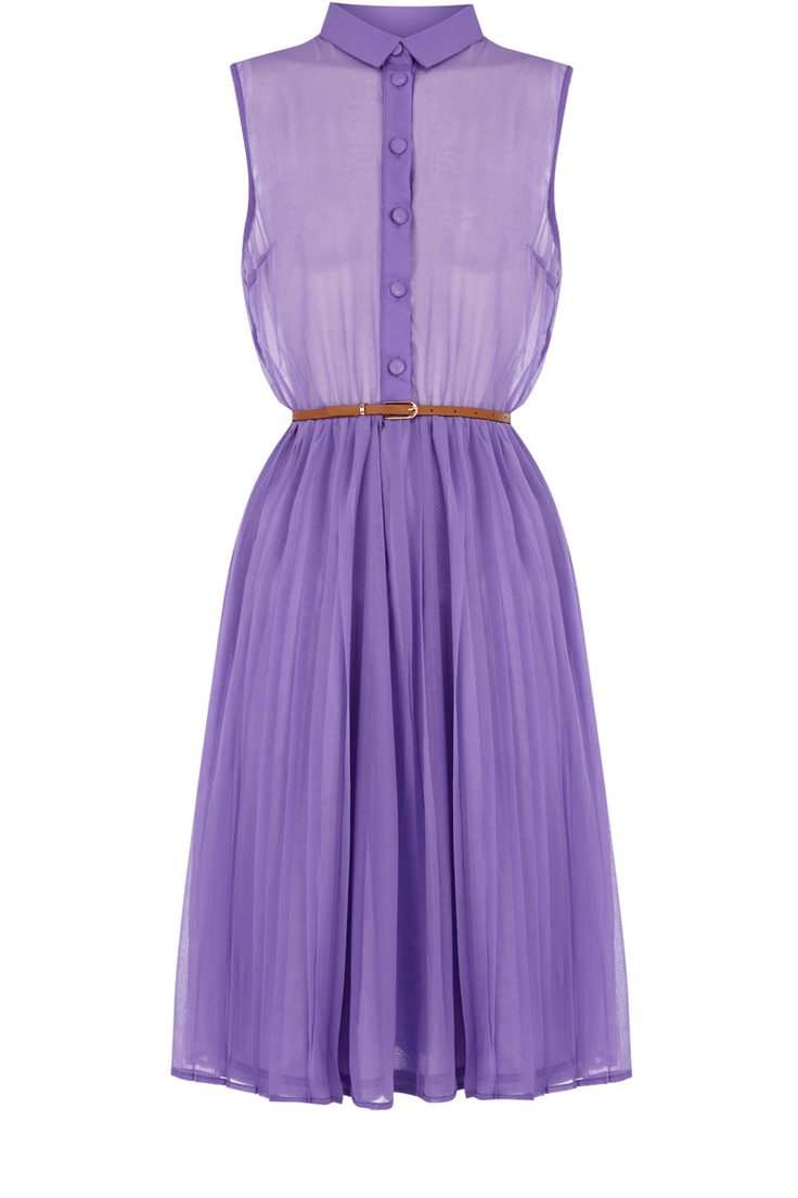 Oasis Shop | Lavender Midi Pleat Belted Shirt Dress | Womens Fashion Clothing | Oasis Stores UK