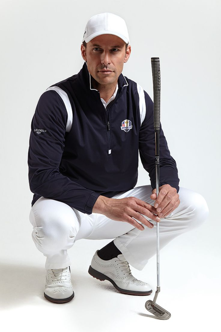 Official Ryder Cup 2016 Glenmuir Mens Zip Neck Long Sleeve Panel Golf Windshirt