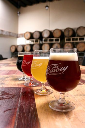 Drinking at the Bruery 101.