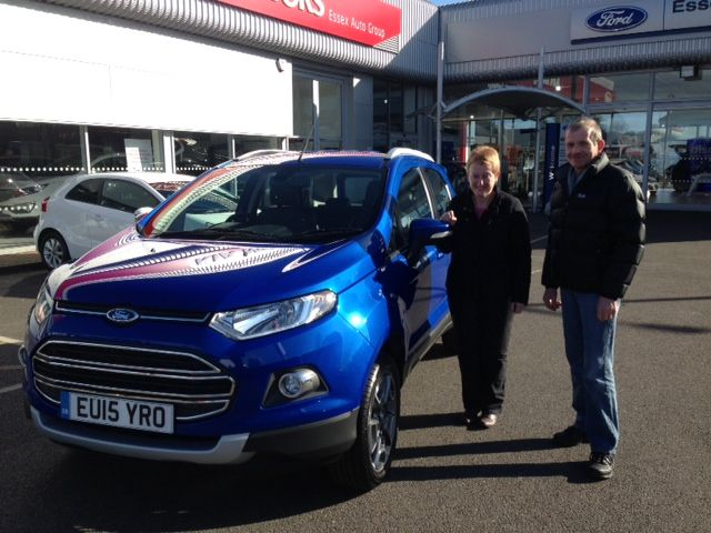 Mr and Mrs Ross visited our dealership at Kent Elms, Southend, to receive their shiny new #15Plate Ford EcoSport.