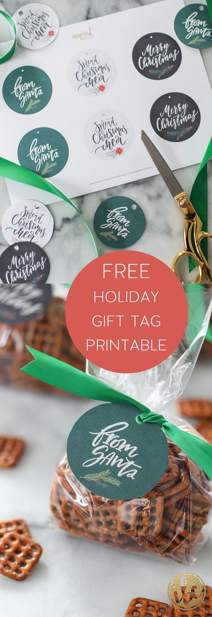FREE Holiday Gift Tag Printable - Christmas wrapping gift tag
