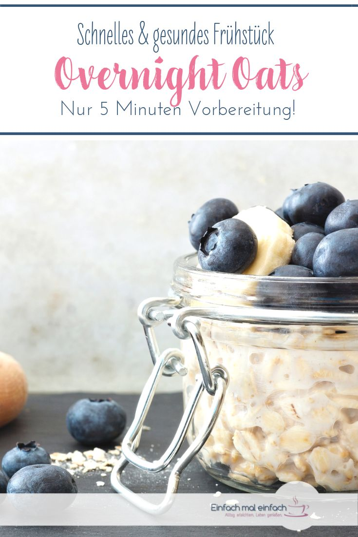 Overnight Oats sind ein schnelles gesundes Frühstück, egal ob Sie abnehmen oder …   – Müsli und Müsliriegel selber machen