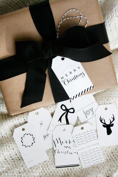 Bileciki do prezentów, etykiety na prezenty