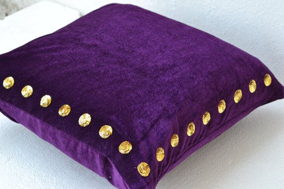 Purple pillow  Purple passion pillow in velvet with by AmoreBeaute