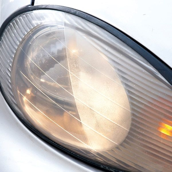 how to clean car headlights with baking soda
