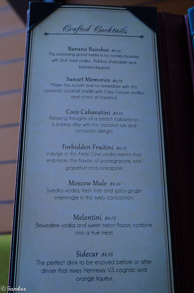 Norwegian Cruise drink menus with prices