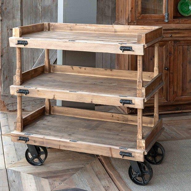 Rustic Farmhouse Bakery Cart In 2020 Rustic Farmhouse Farmhouse Style Decorating Farmhouse Decor