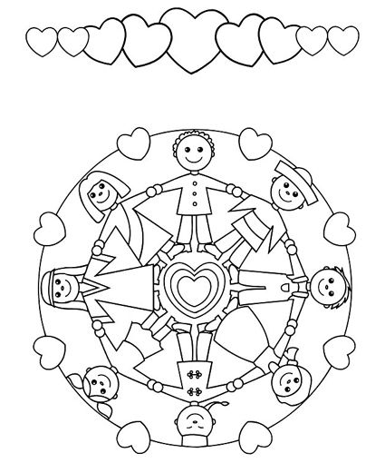 brother & sister | Mandalas Coloring Pages - Colouring for Kids