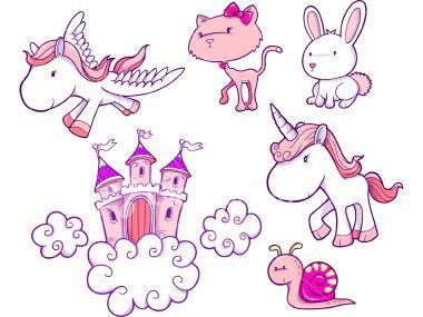 Fairy Tale Vector Elements Royalty Free Stock Vector Art Illustration
