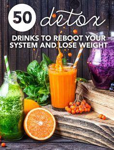 Ceci est une liste impressionnante de boissons de désintoxication!  Parfait pour un rapide 24 heures redémarrage, nettoyage 7 jours ou complète plan de perte de poids.