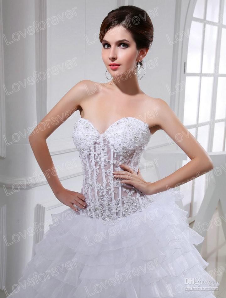 See Through Bodice Wedding Dresses