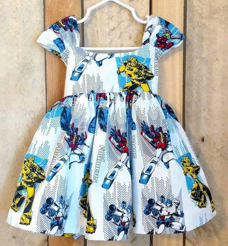 Transformers toddler dress,transformers baby dress,avengers baby dress,avengers toddler dress,spiderman dress,superhero dress,spiderman baby by MightyTotsDressShop on Etsy