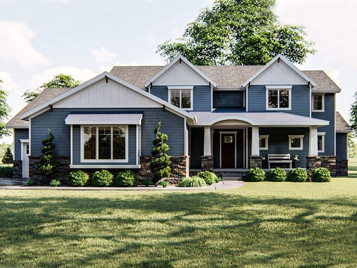 050h 0234 Luxury Two Story House Plan In 2020 Craftsman House Plans Craftsman House Craftsman House Plan