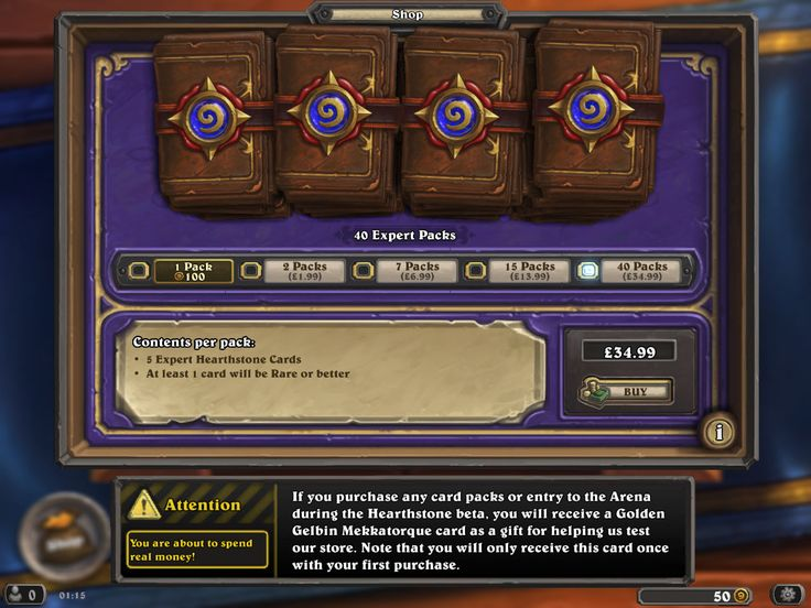 hearthstone purchase screen - Google Search