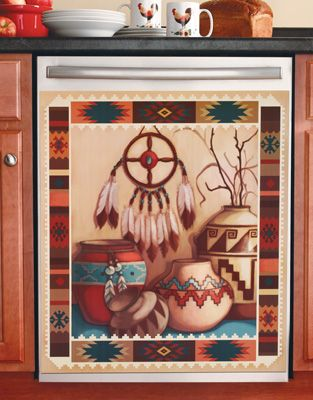 Southwestern Kitchen Magnetic Dishwasher Cover Collections Etc// Hahah I want this so hard.