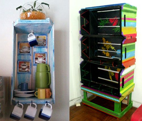 Repisas y anaqueles muebles reciclados pinterest ideas for Repisas recicladas