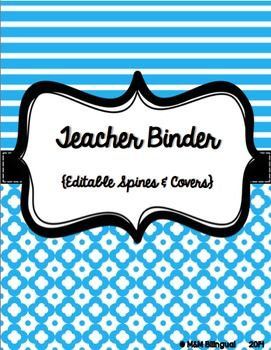 This cute and colorful teacher binder includes everything you need to get organized for the 2014-2015 school year! Best of all, I have included the EDITABLE file for you to type in any other heading you may need :)   Also, this binder will be updated yearly at no cost to you. Simply, re-download each year and enjoy!  *45 colorful binder covers *1 inch & 2 inch binder spine inserts  *August – July calendar pages  *17 pages to use as documentation throughout the year *Total 104 pages!