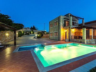 Rethymno villa rental - Villa Thalia offers stunning sea views!
