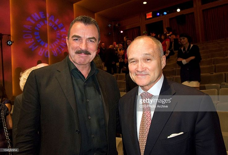 Tom Selleck and New York City Police Commissioner Raymond W. Kelly just after the screening and discussion of the premiere episode of Blue Bloods, Wednesday, September 22 at The Paley Center for Media. Tom Selleck, Donnie Wahlberg, Bridget Moynahan, Will Estes and Len Cariou together with the Creators and Executive Producers Mitchell Burgess and Robin Green, Executive Producer Leonard Goldberg and Moderator Erica Hill from The Early Show.