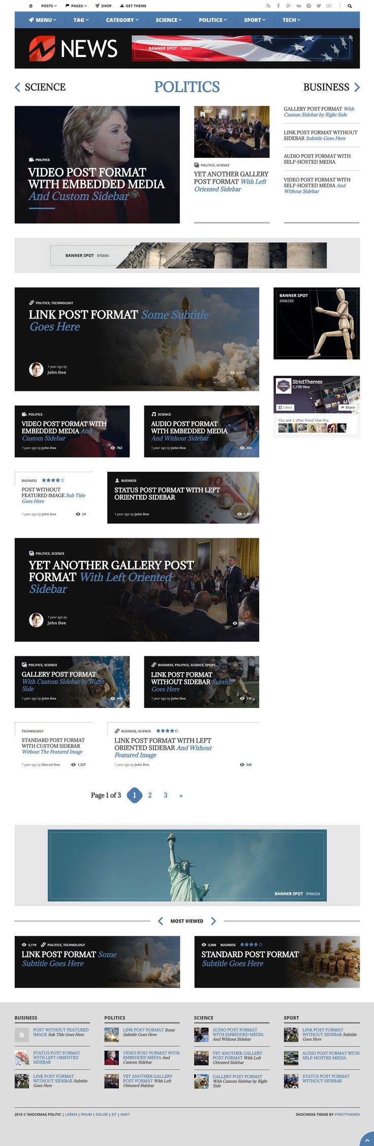 Shockmag WordPress theme - http://demo.strictthemes.com/?theme=Shockmag