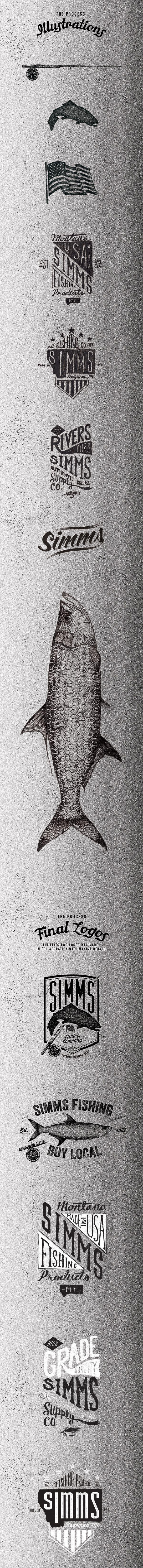 Simms Fishing Clothing Logos 2015