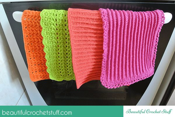 4 Crochet Kitchen Towels That Are Easy To Make