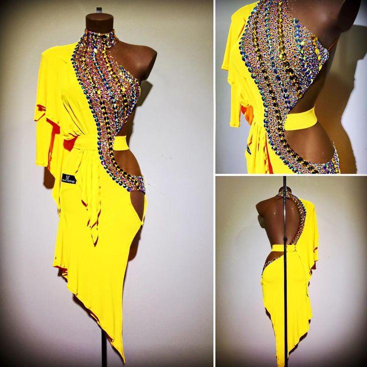 #abrahammartinez #dress #dance #latin #yellow #cristal #auroraboreal #swarovski #design #forsale FOR SALE