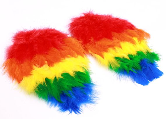 Paradise Parrot Feather Arm Bird Wings - Scarlet Macaw Costume Accessory: Toddler - Child Size