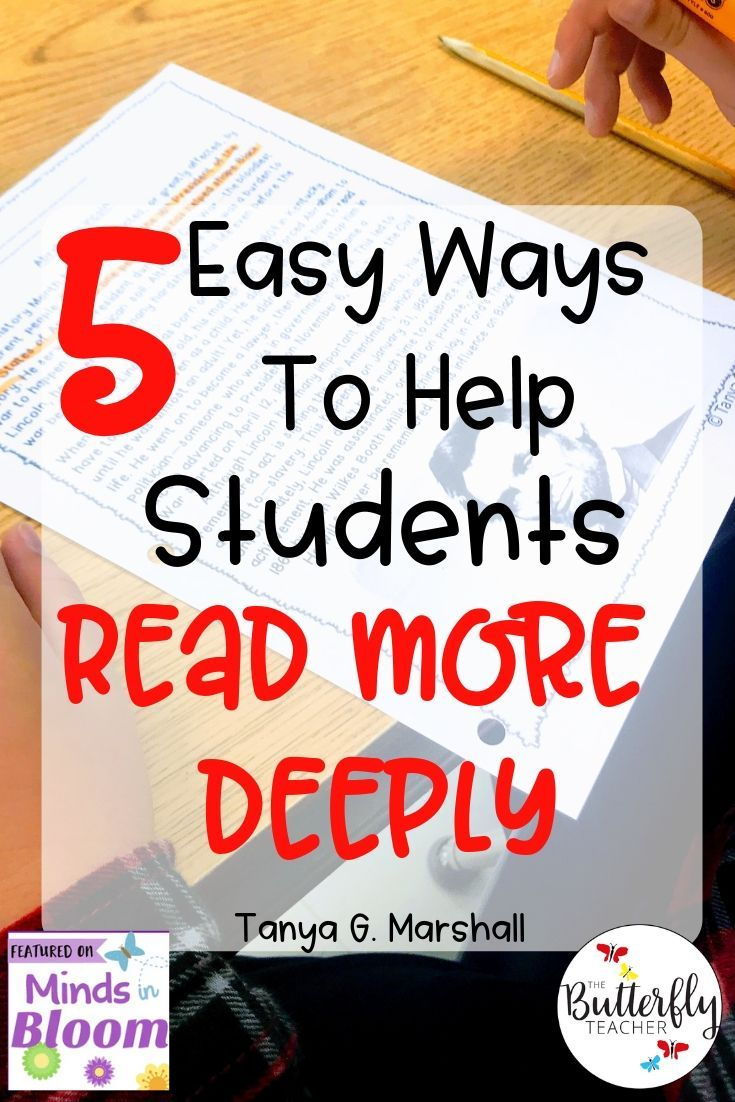 5 Easy Ways To Help Students Read More Deeply Student Reading Reading Comprehension Skills Reading Comprehension [ 1102 x 735 Pixel ]