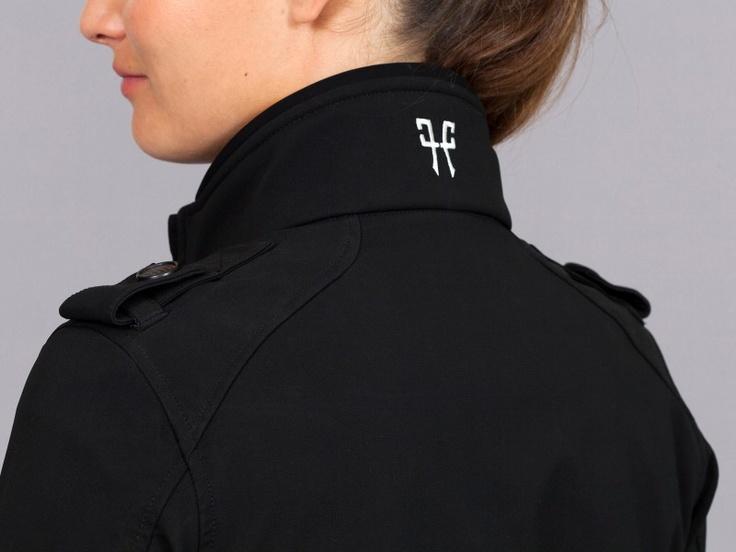 Blouson équitation noir femme, vêtement technique cavalière
