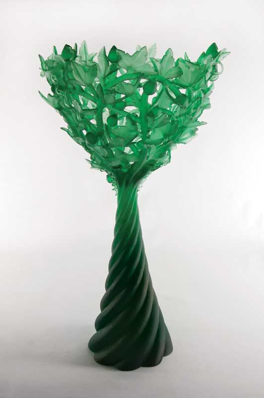 Evelyn Dunstan, Glass Artist - My Cup Runneth Over (A Touch of Spring: Clematis Chalice #6), 2010 / http://www.evelyndunstan.co.nz