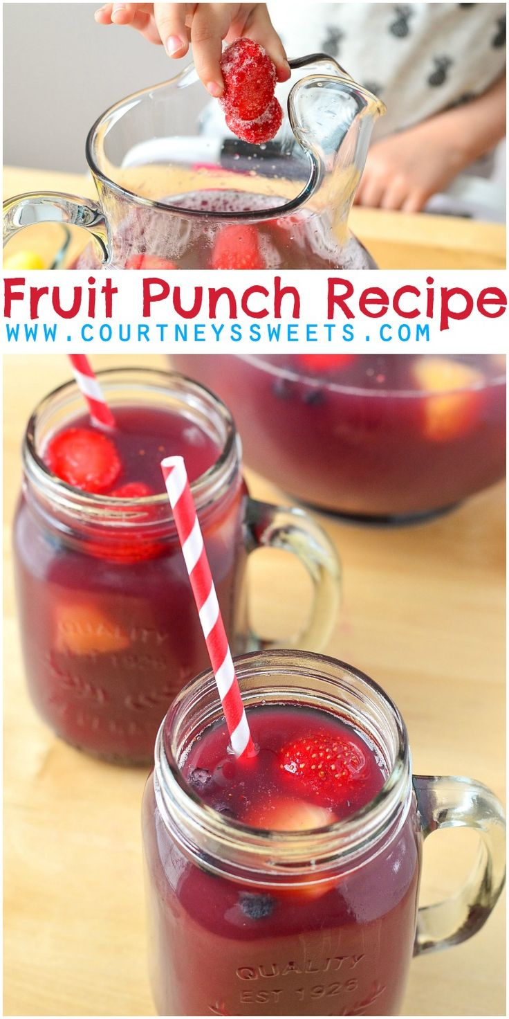 100 fruit punch recipes on pinterest holiday punch for Easy fruit tea recipe