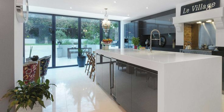 Image result for open plan contemporary kitchen extension