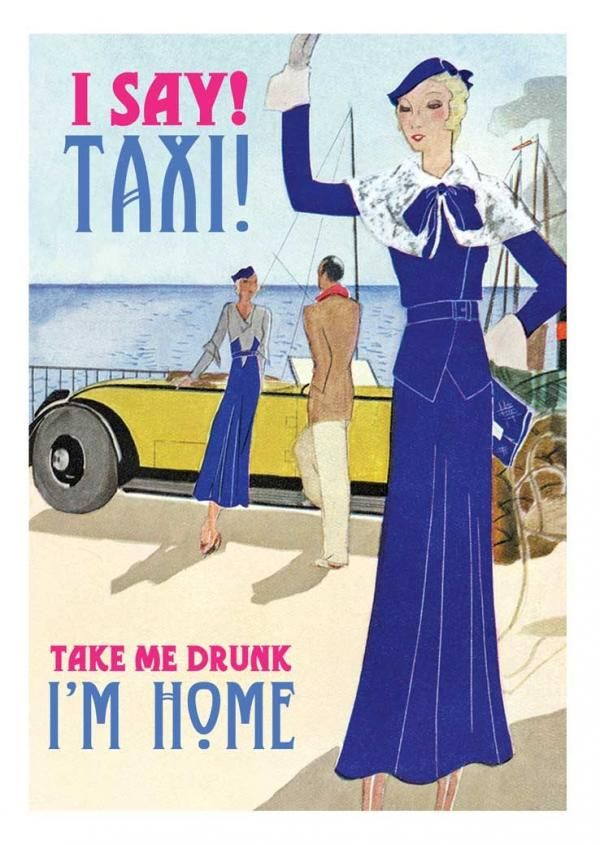 Taxi | Cards from Postmark Online