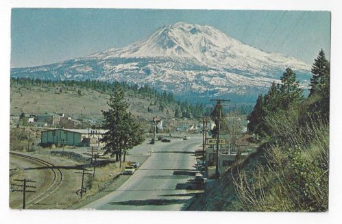 CA Vintage 1968 Post Card View of MT Shasta from Weed California | eBay