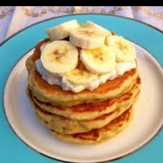 Pancakes a la Bananas Foster Cheesecake Use Bisquick pancake recipe to ...