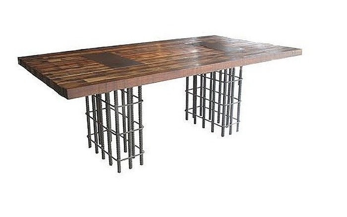 Nice Unique Table Rebar Base | Recycling Decoration (espiritu Chamarilero) |  Pinterest | Unique Coffee Table, Tables And Bench