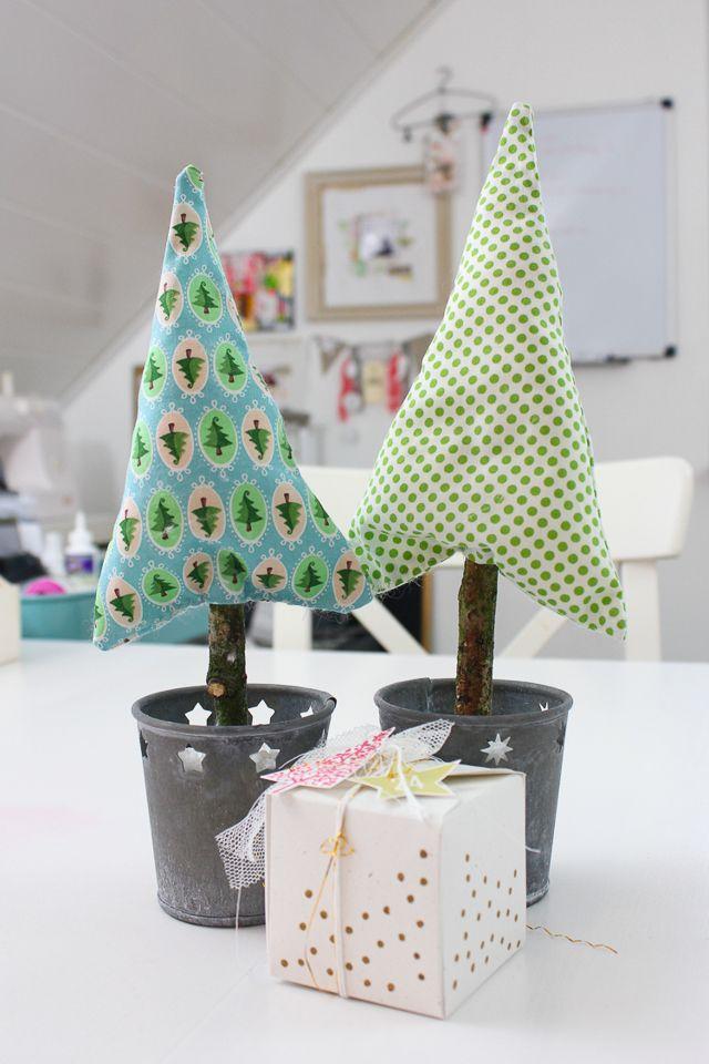 papiersalat  diy tannenbaum nähen  weihnachtsdekoration