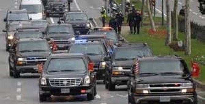 Presidential motorcade or the Dentist