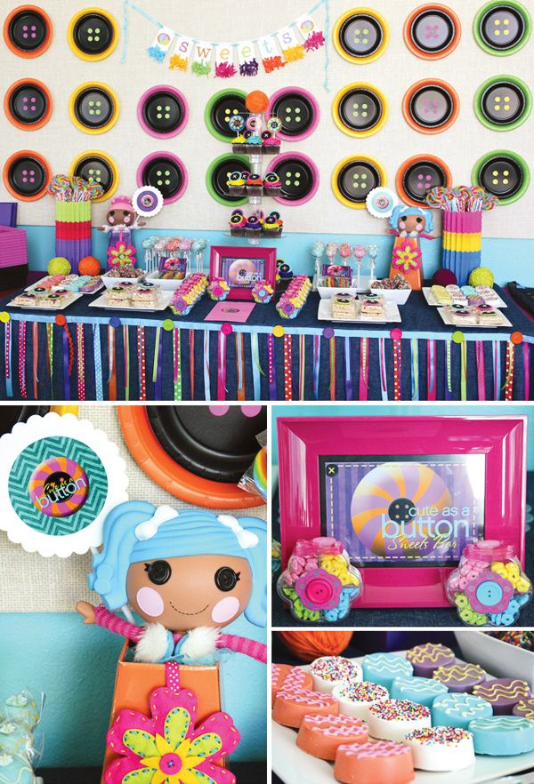 Lalaloopsy Party Idea! With DIY Button Backdrop: Diy Buttons, Little Girls Birthday, Lalaloopsy Party, Girls Birthday Parties, Lala Loopsy, Parties Ideas, Lalaloopsy Parties, Party Ideas, Birthday Ideas